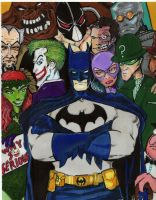 Batman and Villains by methodsofnoise