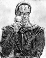Gul Dukat with Sisko's Baseball by amybalot