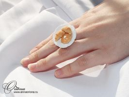 Ring with pastries by OrionaJewelry