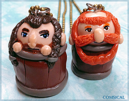 The Hobbit: Barrel charms!! by Comsical