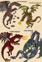 Elemental Dragons Set 1 by shinragod