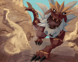 Tyrantrum by MerkyMurkury