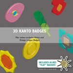 Free 3D Kanto Badges (w/ pre-Johto anime Badges) by icycatelf