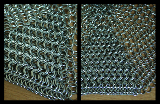 Detail of chain maille hoody by Seveer-rM