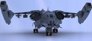 Iron Fist Dropship III by Quesocito