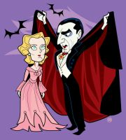 Dracula and Mina by belledee