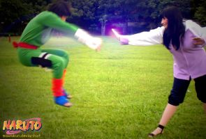 Naruto Cosplay: Rock Lee VS Hinata by SawaKun
