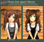 BEFORE and AFTER - Nayumi by cielking