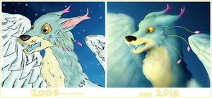 Draw This Again - Winged Wolf by kr1st1naa