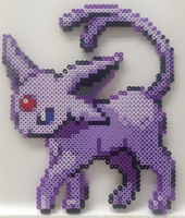 Pokemon - Perler Bead Espeon by heatbish