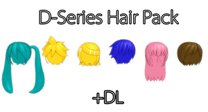 [MMD] D Series Hair Pack +DL by Saza-kunn