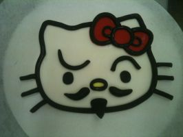 Guy Fawkes Hello Kitty in Fondant by Spudnuts