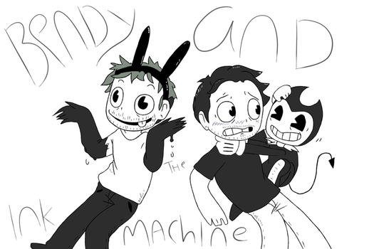Bendy, Mark and Jack by PaperPlushie