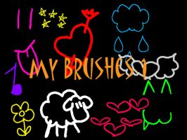 My Brushes 1: Doodles by Ebony-Chrystal