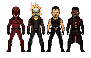 Marvel Knights - Boys night out by Melciah1791