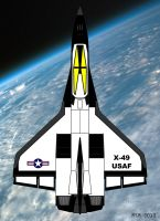 X-49 Top View by RedSpider2008