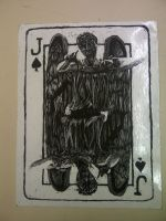 Weeping angels Playing Card Scratch art: Joker by 5UNNYR4Y3