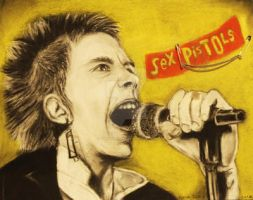 Johnny Rotten (Sex Pistols) by lunachick86
