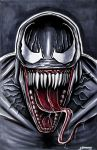 Venom - Copic Marker Drawing by LethalChris