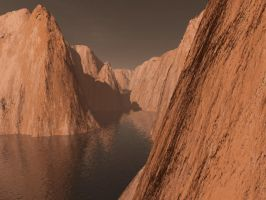 red rock cliff by gchj555