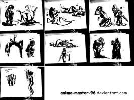 1000 Gesture Drawing Challenge - 29 to 42 by anime-master-96