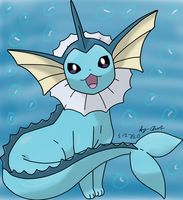 Vaporeon by rosewhip189