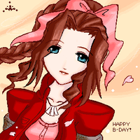 Smiling Aerith by GenevieveGT
