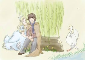 Emma and Baelfire by littleredlynx