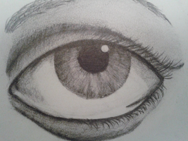 Pencil Eye by Etchingsketches
