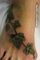 Ivy Foot Tattoo by mxw8