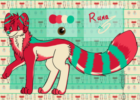 Runa Ref Sheet by MonsterMeds