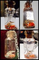 Mini koi fish in a bottle by FrustratedDingo