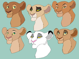 6 versions of Sarafina's mother by Olphey