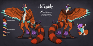 Nasido Reference Sheet by Shadow-Wolf
