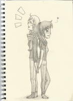 Myself and R holding hands by Roxanneair
