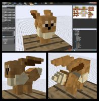 Minecraft Eevee Mob v-0.5.0 by FuzzyAcornIndustries