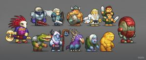 Game characters PT2 by AlexRaspad