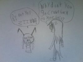 Bim And Zim Yelling - Request by invaderrose123