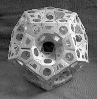 Fractal Dodecahedron 2006 (paper) by albertpcarpenter