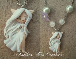 Nakihra Priestess of the Moon polymer clay by Nakihra