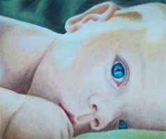 Baby boy (colored pencil) by KamilaM94