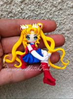 sailor moon pendant by DarkettinaMarienne