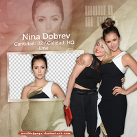 Pack png 507 - Nina Dobrev by worldofpngs