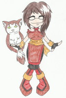 Chibi Fire Bender by whisperimaginary