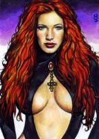 Satana Sketch Card 1 by veripwolf