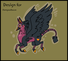 design for Darngoodbacon by griffsnuff