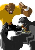 Luke Cage VS Venom by Apollorising