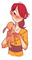 A Girl and Her Puppy by randerzoid
