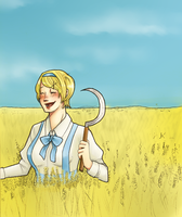 APH-Blue sky and yellow wheat by Zaya-Zakura
