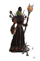 WoW: Female Orc Warlock by Adrian-W